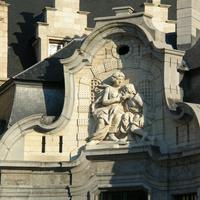Sculpture on the Mammelokker building in Ghent, Belgium