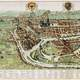 Drawing of Liege in 1627 in Belgium