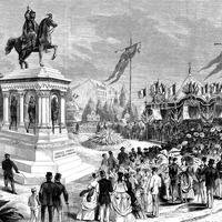 Inauguration of the statue of Charlemagne, 26 July 1868, Liege, Belgium