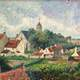 Painting of one time village in Knokke-Heist, Belgium