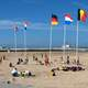 Panormanic View of the Beach in Ostend, Belgium