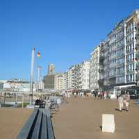 Promenade at Ostend seaside in Belgium