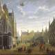 The Burg in Bruges around 1695 in Belgium
