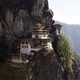Temple on the mountainside in Bhutan
