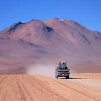 Driving across the Solar to Pantanel, Bolivia