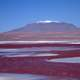 Hill and red ground landscape in Bolivia