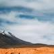 Red Volcanic and Mountain Landscape in Bolivia