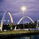 Bridge at Night in Brasilia, Brazil