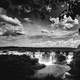 Black and White view of Iguazu Falls, Brazil