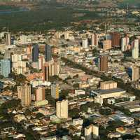 Downtown Cascavel in Brazil