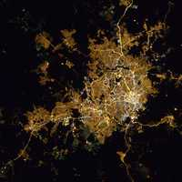 ISS Satellite Image View of Belo Horizonte in Brazil