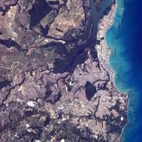 João Pessoa, seen from the International Space Station in Brazil