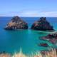 Landscape and seascape of Fernando De Noronha, Brazil