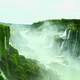 Misty scenic photo of Iguazu Falls, Brazil