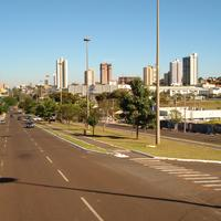Road and Via Park in Campo Grande, Brazil