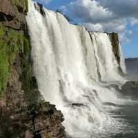 Side View of Iguazu Falls, Brazil