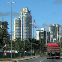 Towers and road in Mogi das Cruzes, Brazil