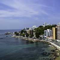 Seaside buildings and resorts and landscape at Salvador, Brazil