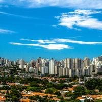 Clear Skyline of Sao Paulo in Brazil