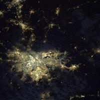 Satellite View of the Greater São Paulo at night
