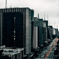 Streets and buildings of Sao Paulo, Brazil