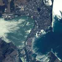 Burgas as seen from space