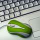 Green Mouse with Keyboard