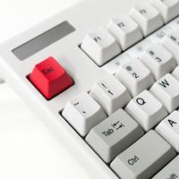 Keyboard with Red Escape Key