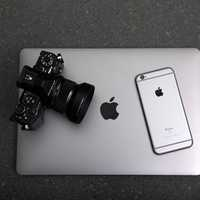 Macbook with Camera and Iphone