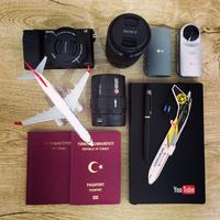Miniture planes with passport and Lens