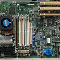 Motherboard with lots of components