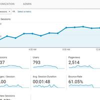 Website Analytics traffic Graph