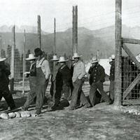 Castle Mountain internment camp, 1915 in Banff National Park, Alberta, Canada