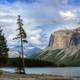 Lake and Rock landscape scenic at Banff National Park, Alberta, Canada