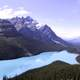 Landscape of Peyto Lake in Banff National Park, Alberta, Canada