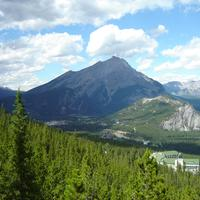 Scenic Landscape of the Canadian Rockies in Banff National Park, Alberta, Canada