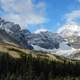 Snow capped Mountain Landscape and scenery in Banff National Park, Alberta, Canada