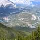 The Banff townsite wraps around Tunnel Mountain in Banff National Park, Alberta
