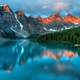 Very majestic and beautiful landscape with mountains in Banff National Park, Alberta, Canada
