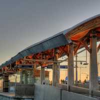 Light Rail Transit Station in Edmonton