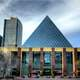 South face of Edmonton's City Hall with Pyramid