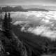 Sea of Clouds from Jasper Palisade at Jasper National Park, Alberta, Canada
