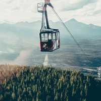 Sky Tram at Jasper National Park, Alberta, Canada