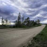 lakeside Trail and landscape in Lesser Slave Lake Provincial Park