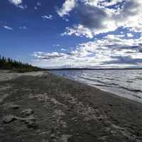 Sandy Beach with shoreline on Lesser Slave Lake