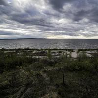 Scenic landscape under the clouds at Lesser Slave Lake