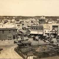 Downtown Lacombe in 1908 in Alberta, Canada