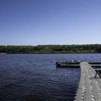Docks out into the lake at Hutch Lake