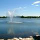 Henderson Lake and fountain in Lethbridge, Alberta