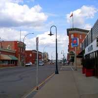 Lacombe Downtown in Alberta, Canada